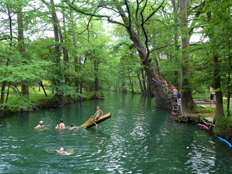 summer swimming holes in Texas