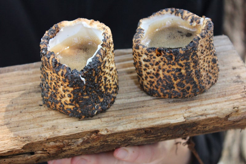 How make toasted marshmallow shot glasses