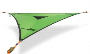 product image of green tentsile hanging tree hammock against white background