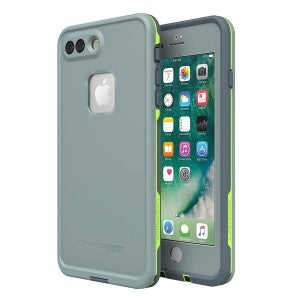product image of green and grey lifeproof phone case on latest iphone model