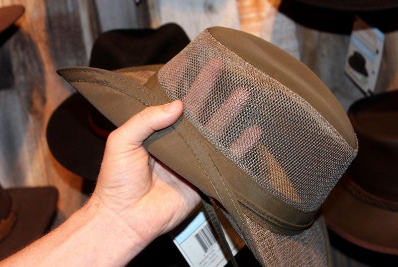 mesh camping hats