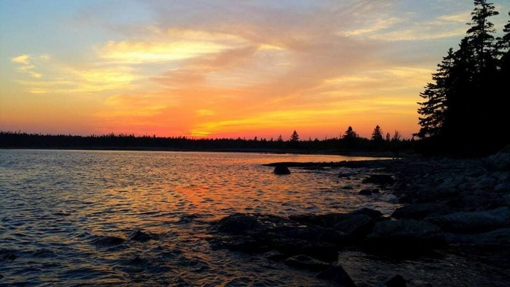photo of sea taken while camping in Maine