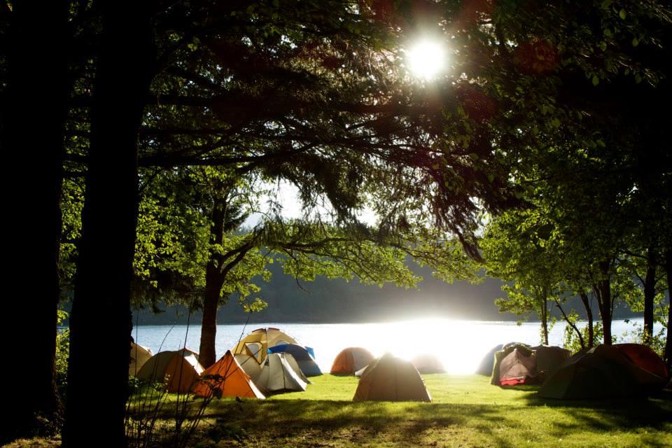 Camping on Thunder Island.