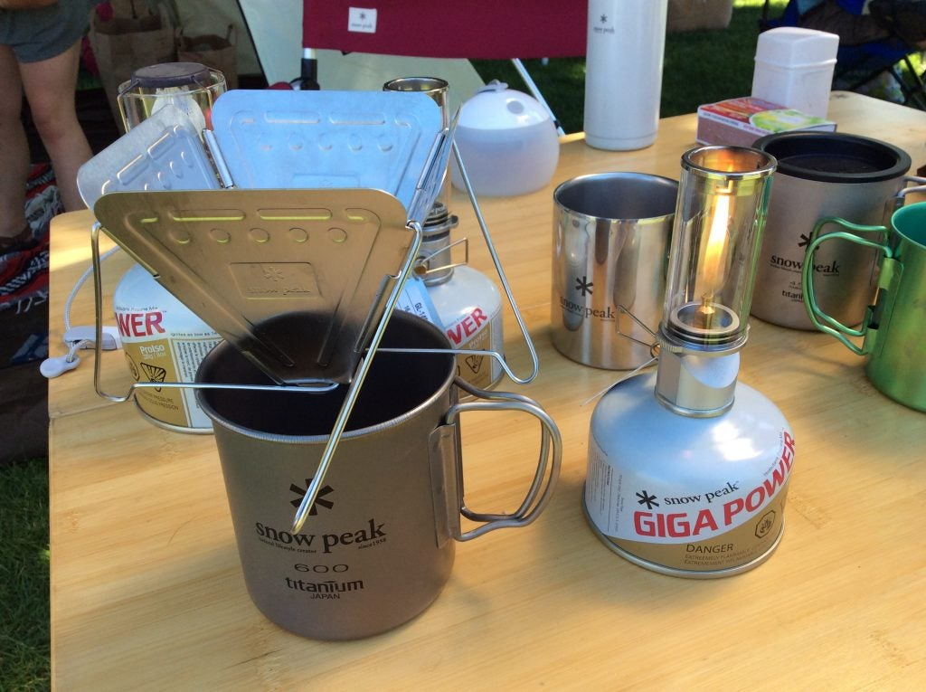 The Snow Peak Collapsible Coffee Drip and
