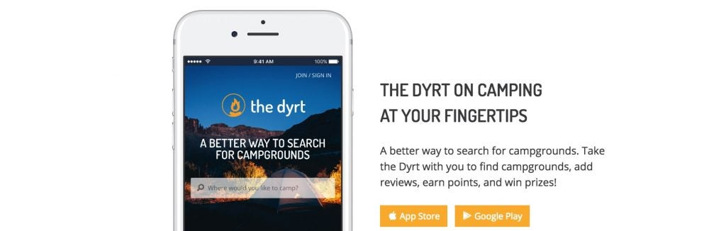 find car camping on the dyrt