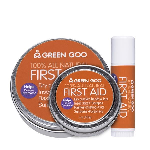 You can get Green Goo First Aid in a number of sizes.