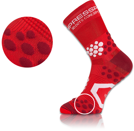Compressport's 3D.DOTS Technology.