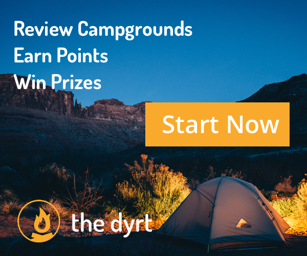 Review Campgrounds, Earn Points, Win Prizes.