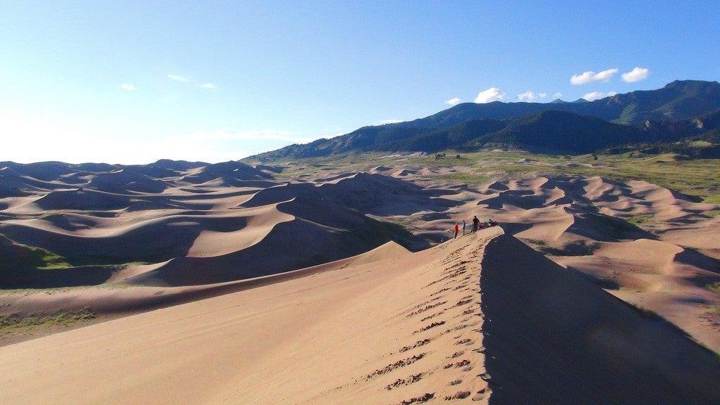 great sand dunes camping panorama
