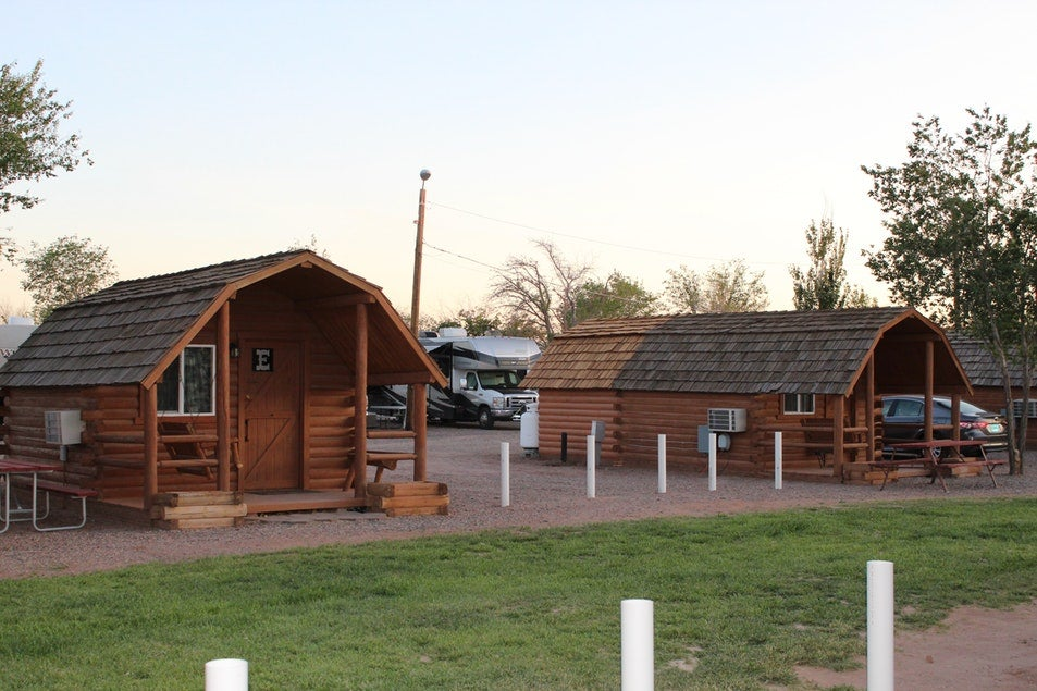 cabins in Holbrook Campground near Petrified Forest National Park
