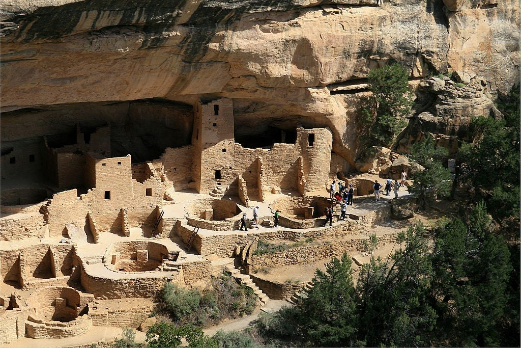 aerial view of Mesa Verde Cliff Dwellings