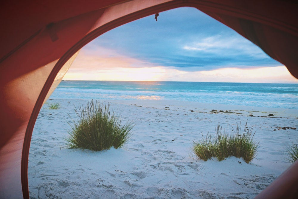 best beach camping