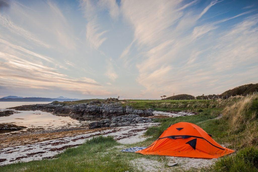 beach camping near lake mcconaughy