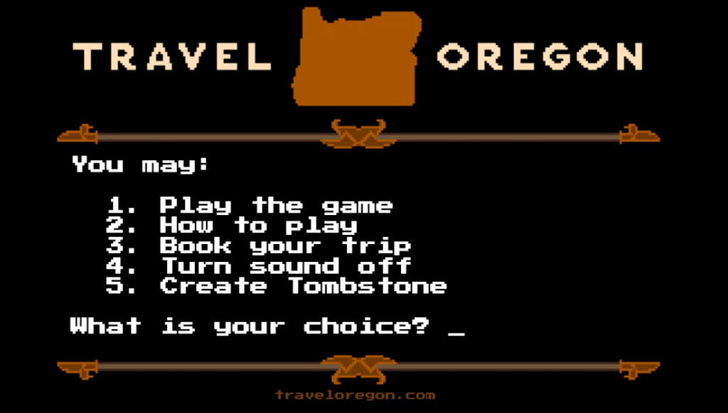 This Oregon Trail inspired game is sure to be a hit.