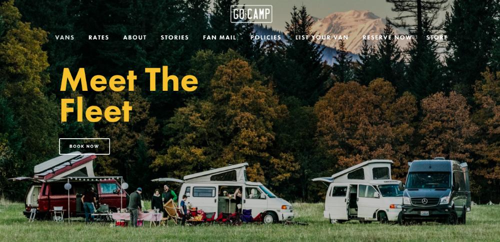 GoCamp's campervan rental