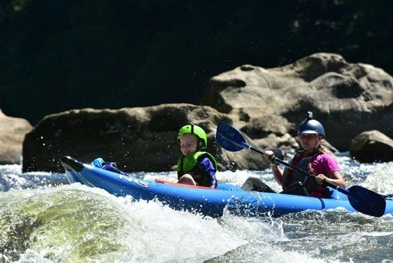 Keep the kids in mind when choosing campgrounds near rafting destinations!