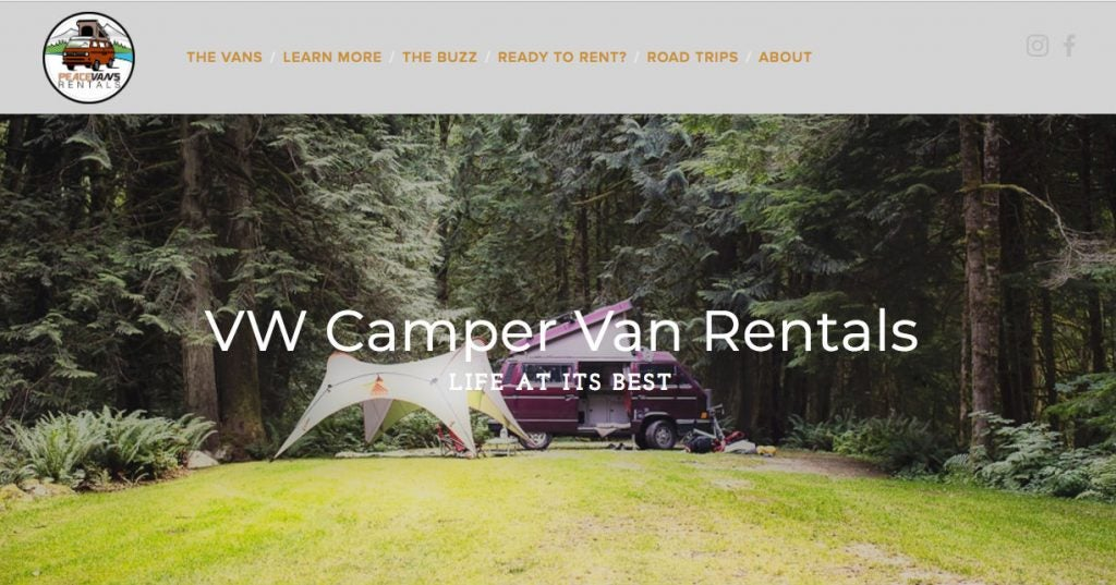Peace Vans campervan rental