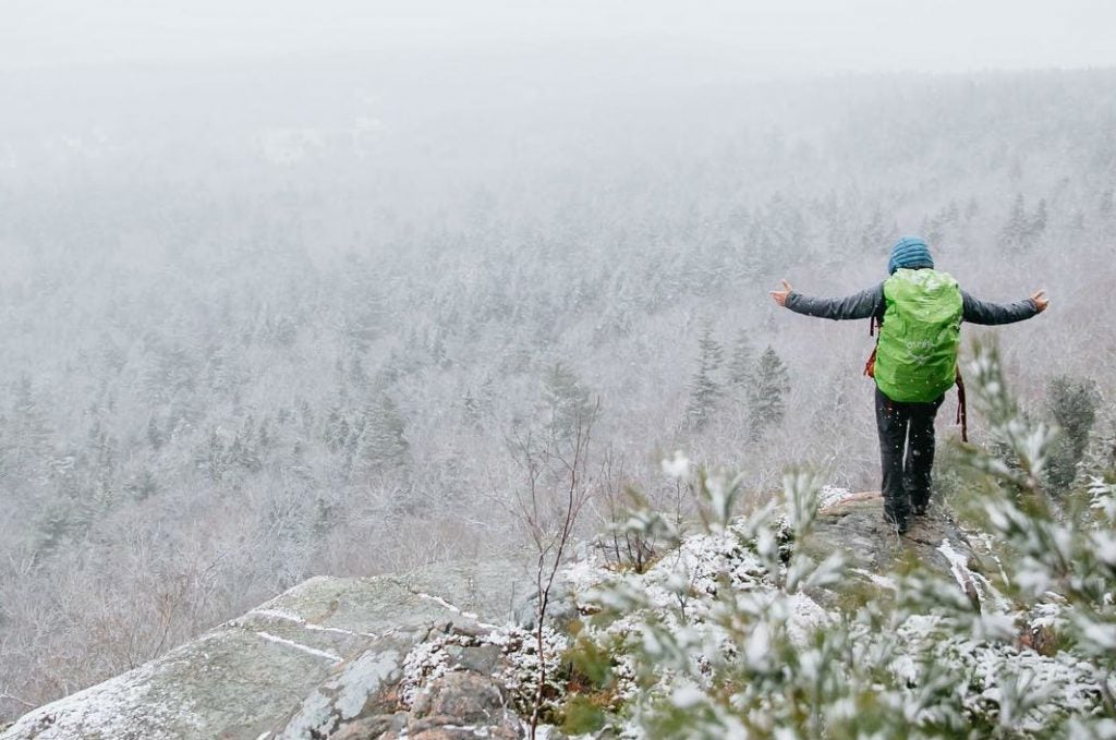 acadia national park winter camping