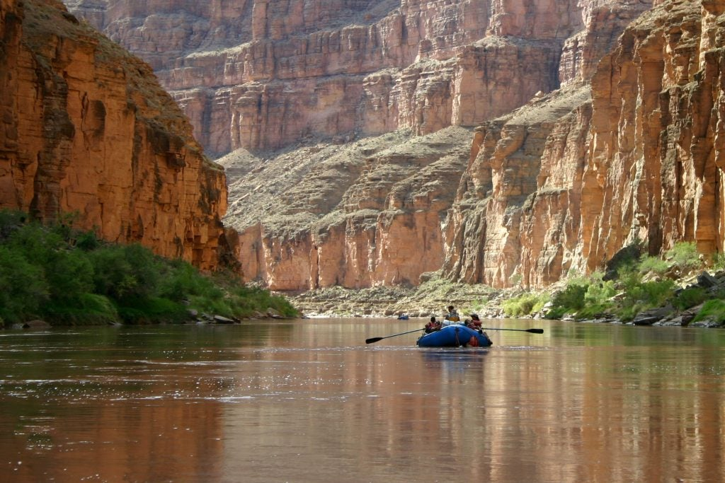 Grand Canyon rafter on camping trip