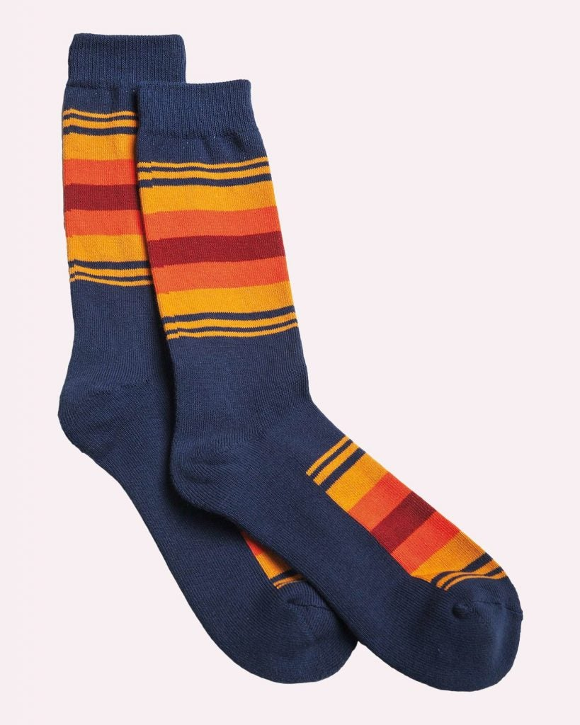 These Pendleton socks are inspired by Crater Lake in Oregon.