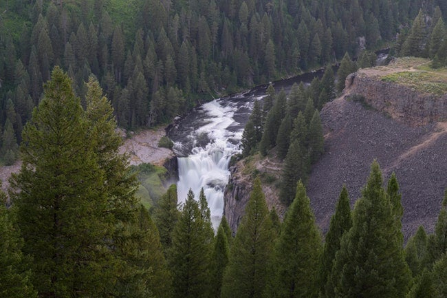 What can top camping in the west and hearing the sound of the falls in the distance?