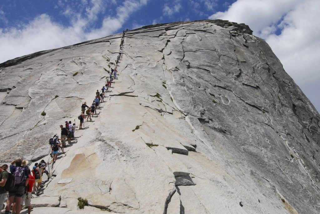 Half dome permits needed here