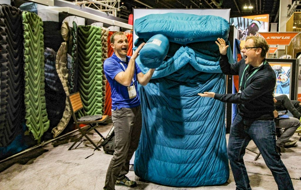 Double Sleeping Bag Demo Klymit Ceo