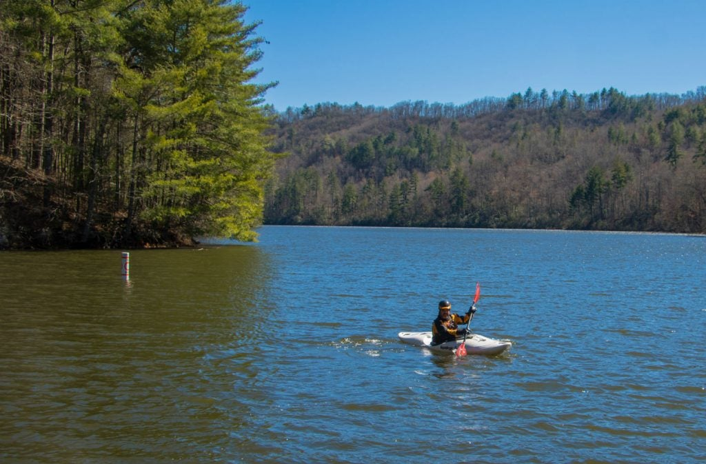 Don't just enjoy camping in the Blue Ridge Mountains, take a dip too!