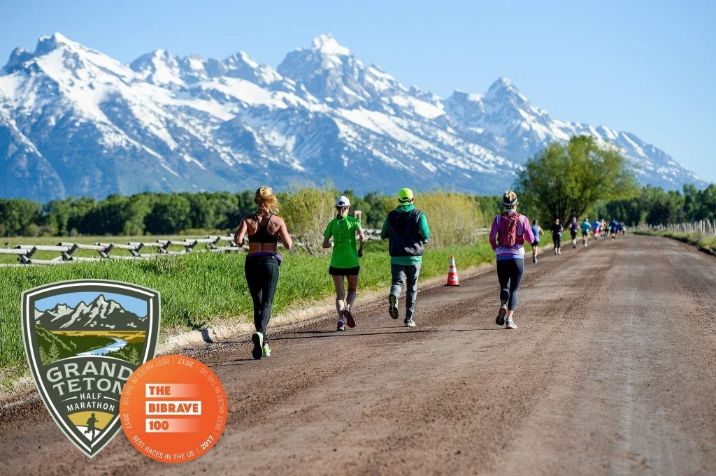 Camping near Vacation Races's Grand Teton half marathon mean waking up as close to this view as possible!