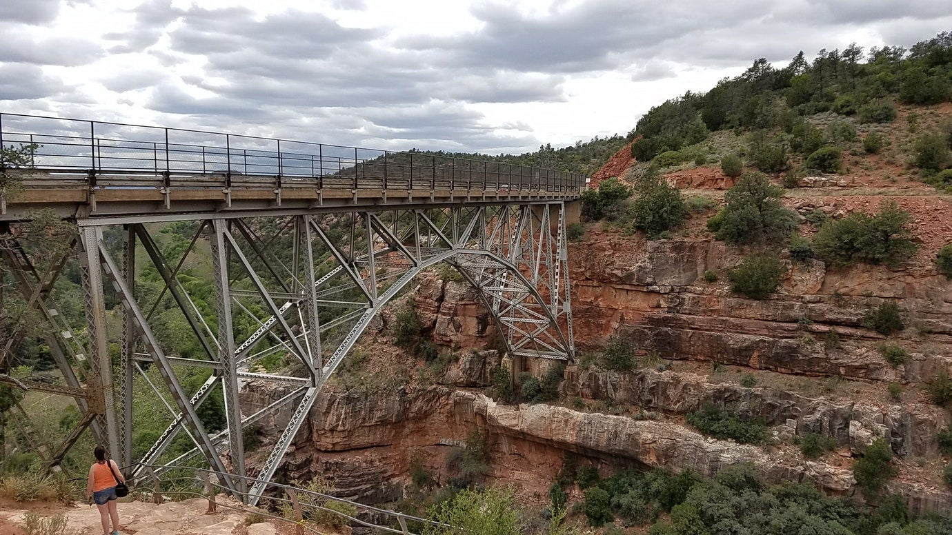 Bridge seen while camping in Sedona
