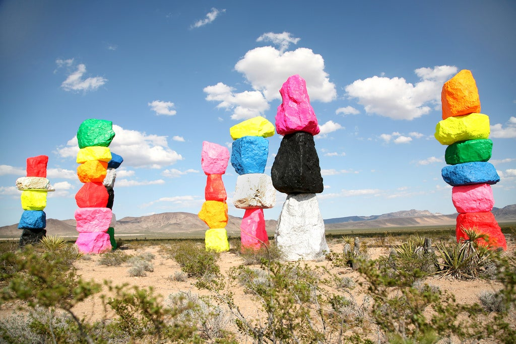 Where to camp when visiting Seven Magic Mountains? You have many options!