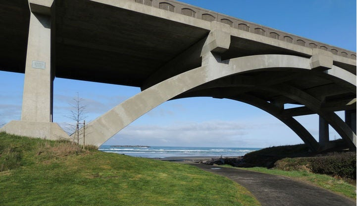 Road trips don't have to be kept to the highways, check out this beautiful beachy bridge.