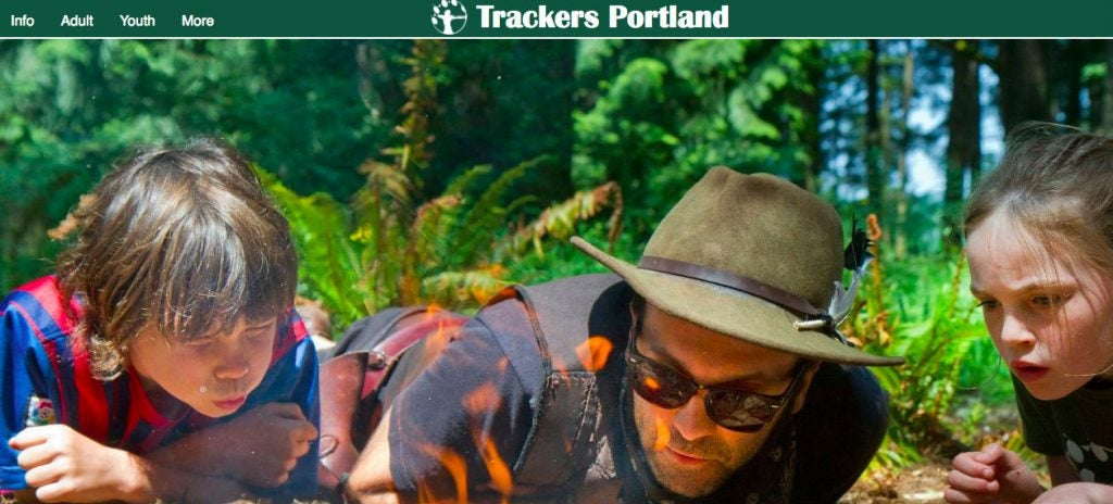 Portland's Trackers summer camp teaches children how to make it in the wild.