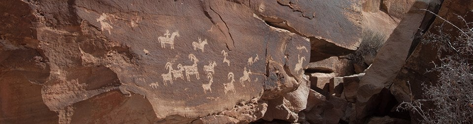 ancient cave drawings in Arches National Park