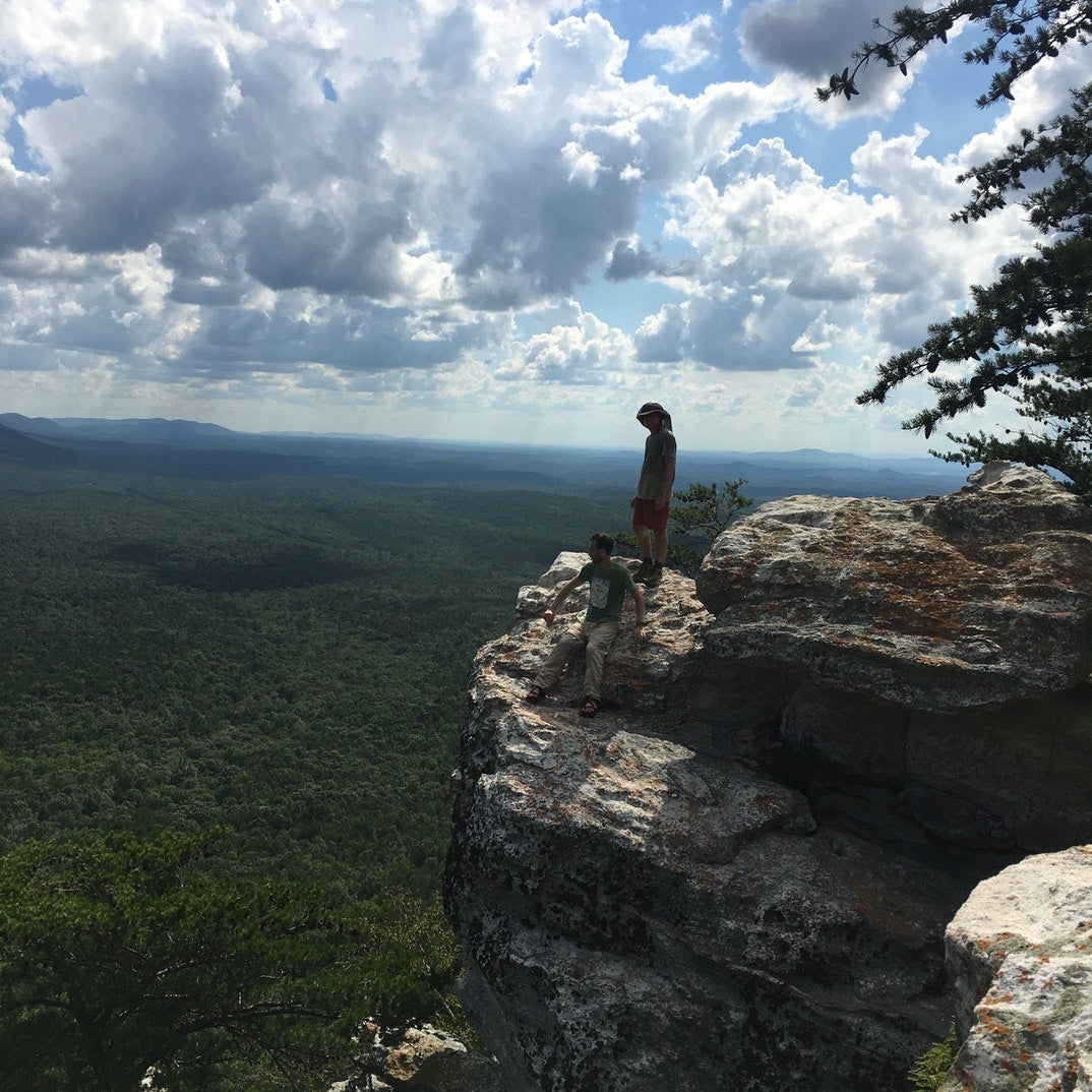 hiking at cheaha state park