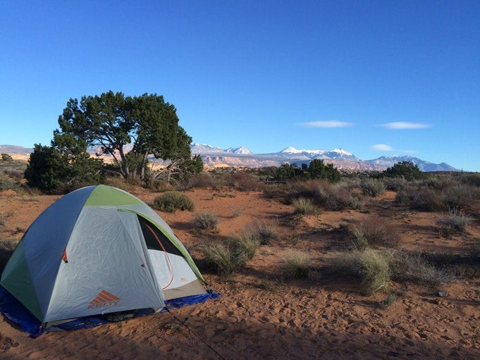 arches national park camping on sand flats