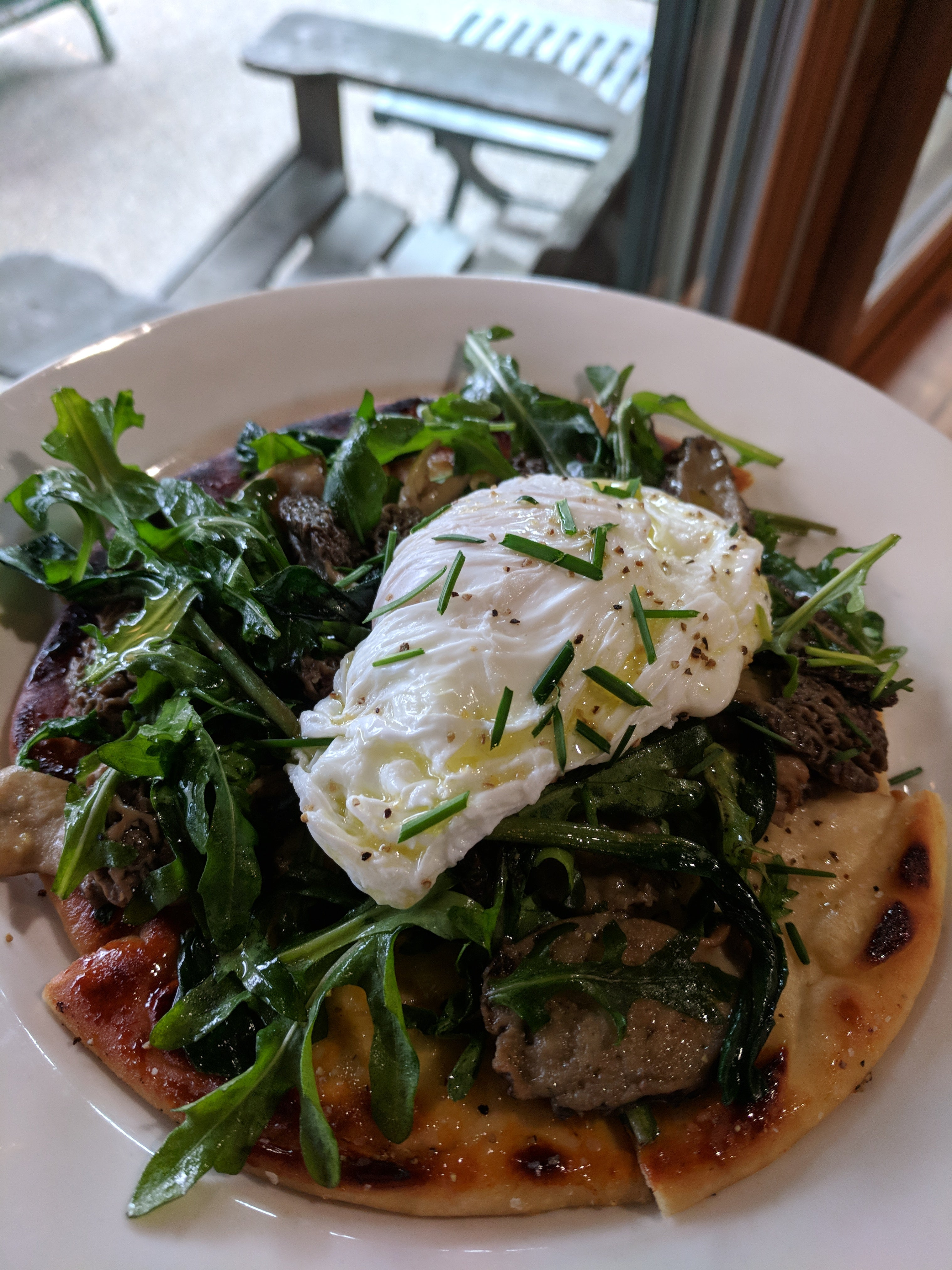 flatbread from foraging