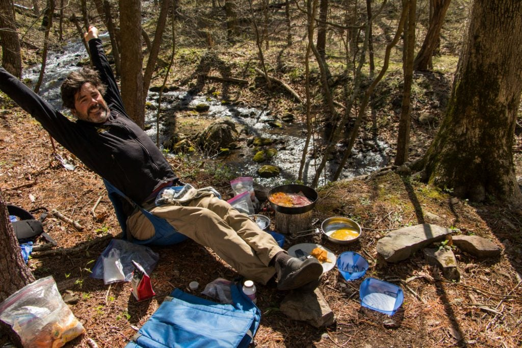 spring backpacking in Shenandoah national park
