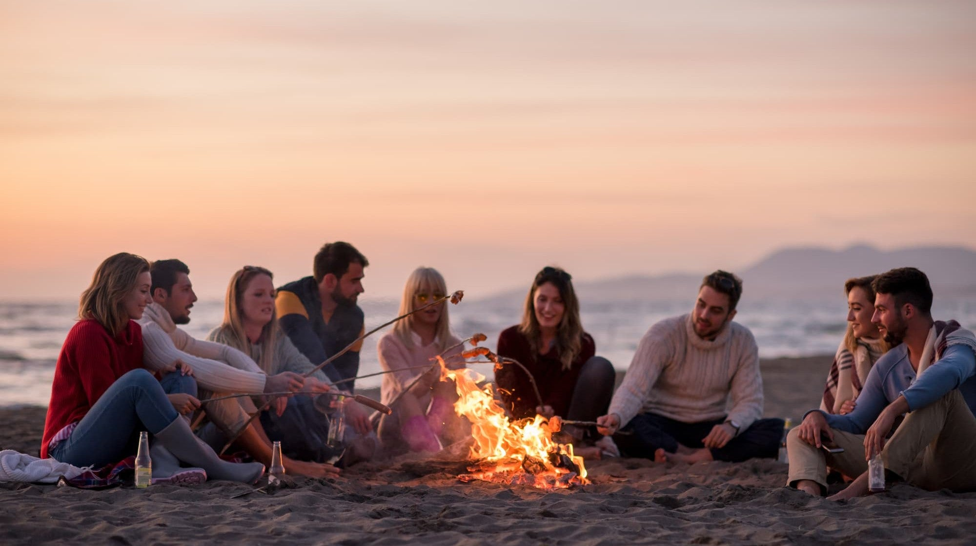 How To Build A Beach Bonfire And Light Your Fire Responsibly