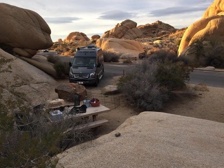 pick the best campsite in the desert