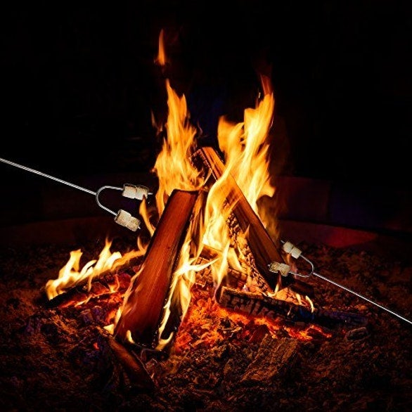 how to build a campfire for marshmallows