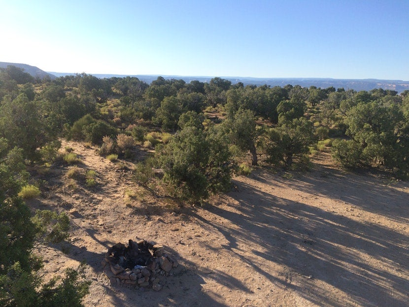 free camping desert campsite