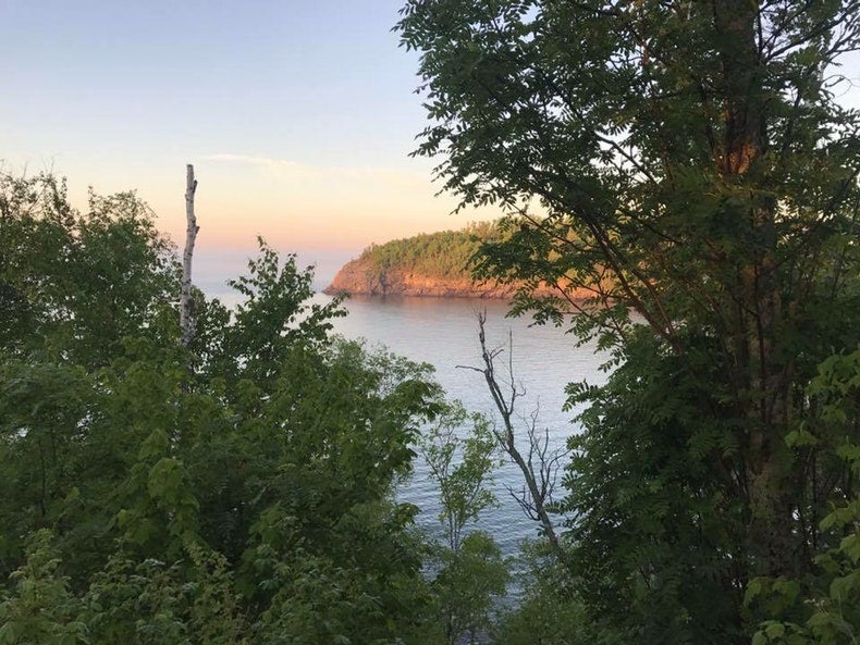 sunset at Split Rock Lighthouse State Park