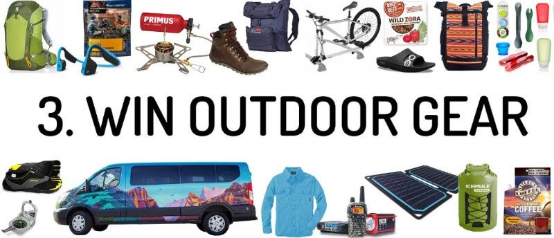 win outdoor gear prizes on the dyrt