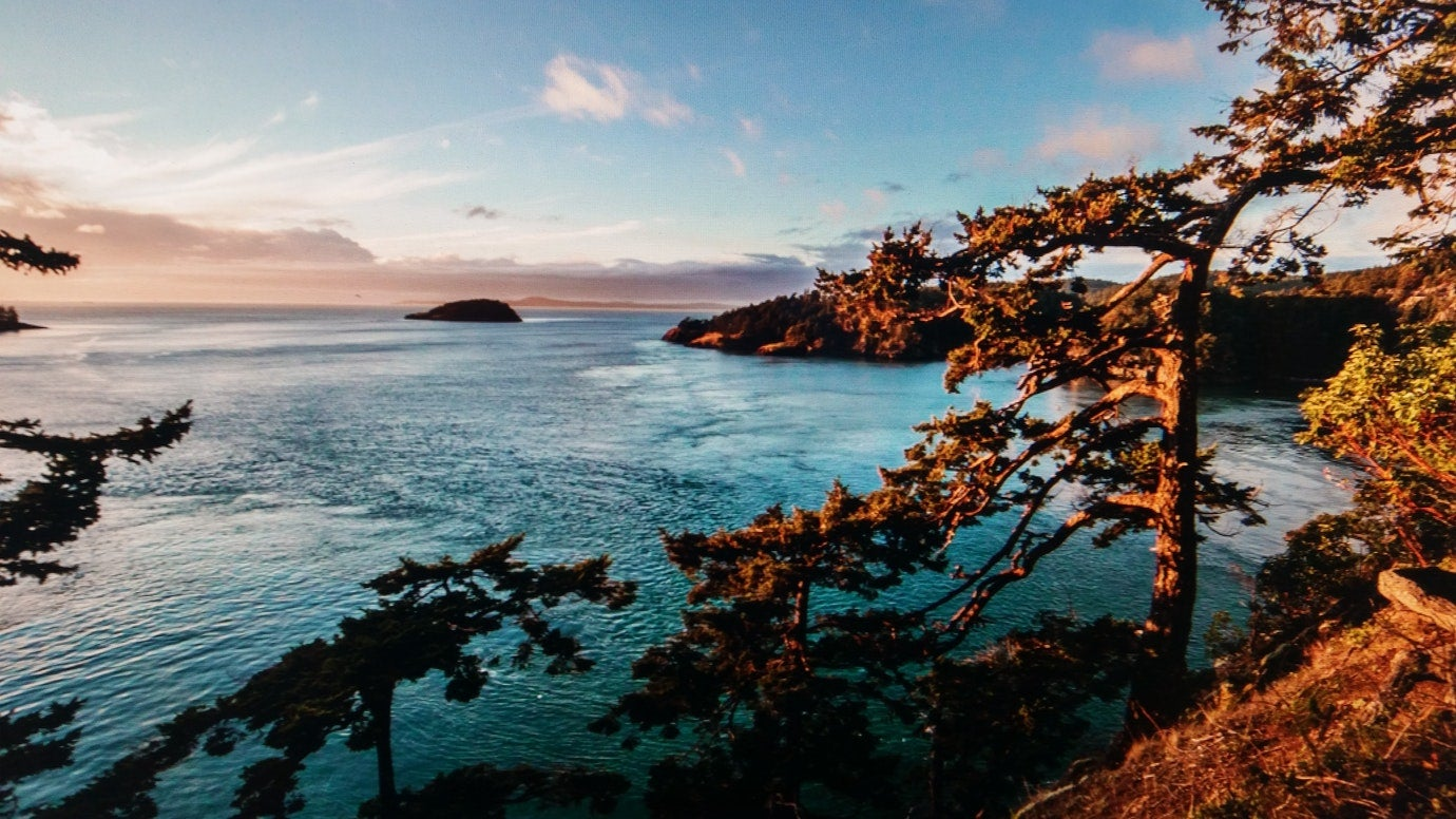 aerial view of deception pass state park