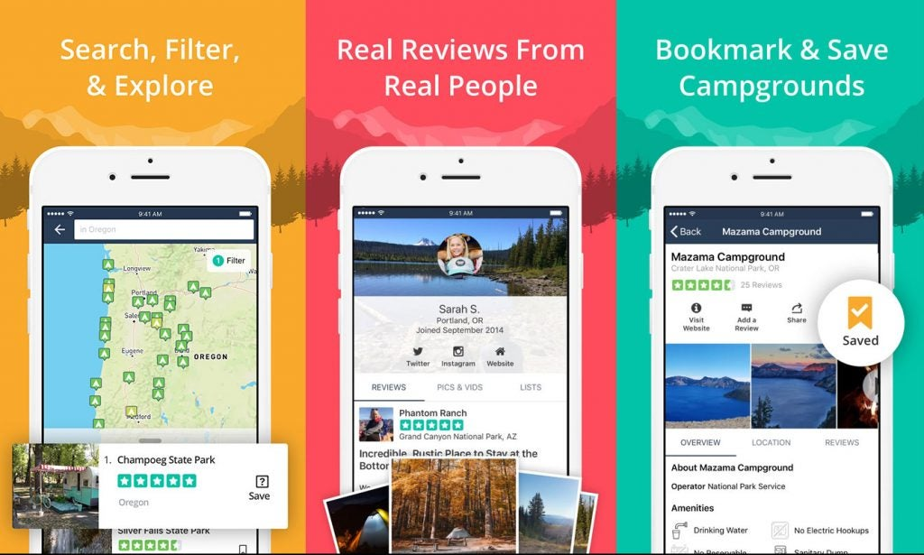the dyrt camping apps