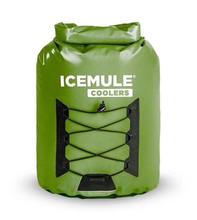 icemule green backpack cooler for kayak camping