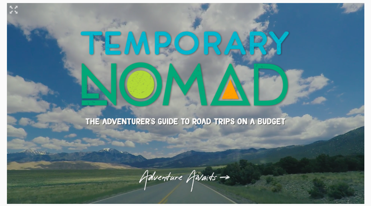 temporary nomad guide for budget camping