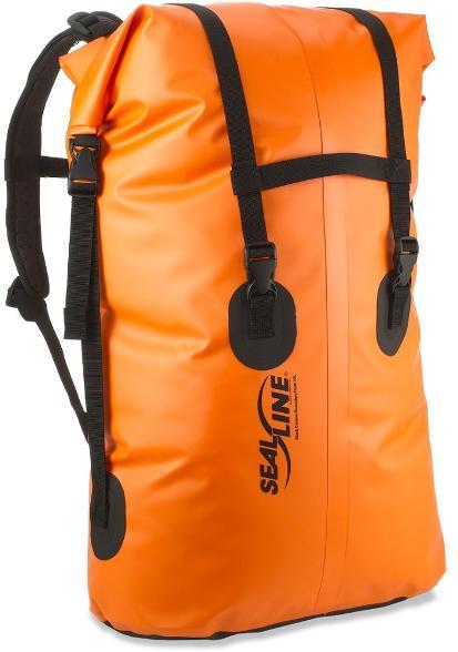 sealine orange dry pack for kayak camping