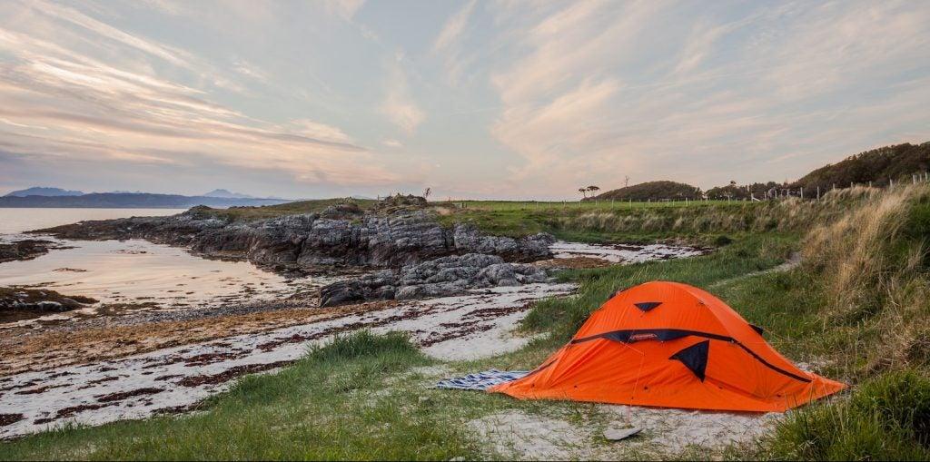 beach camping lake mcconaughy